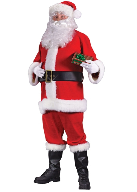 santa claus suits economy packaged costumes