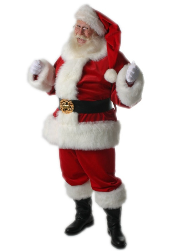 professional, adele's santa claus suit, traditional style, rich velvet